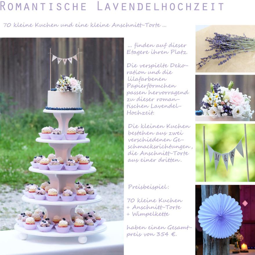 Lavendelhochzeit lavender cupcakes
