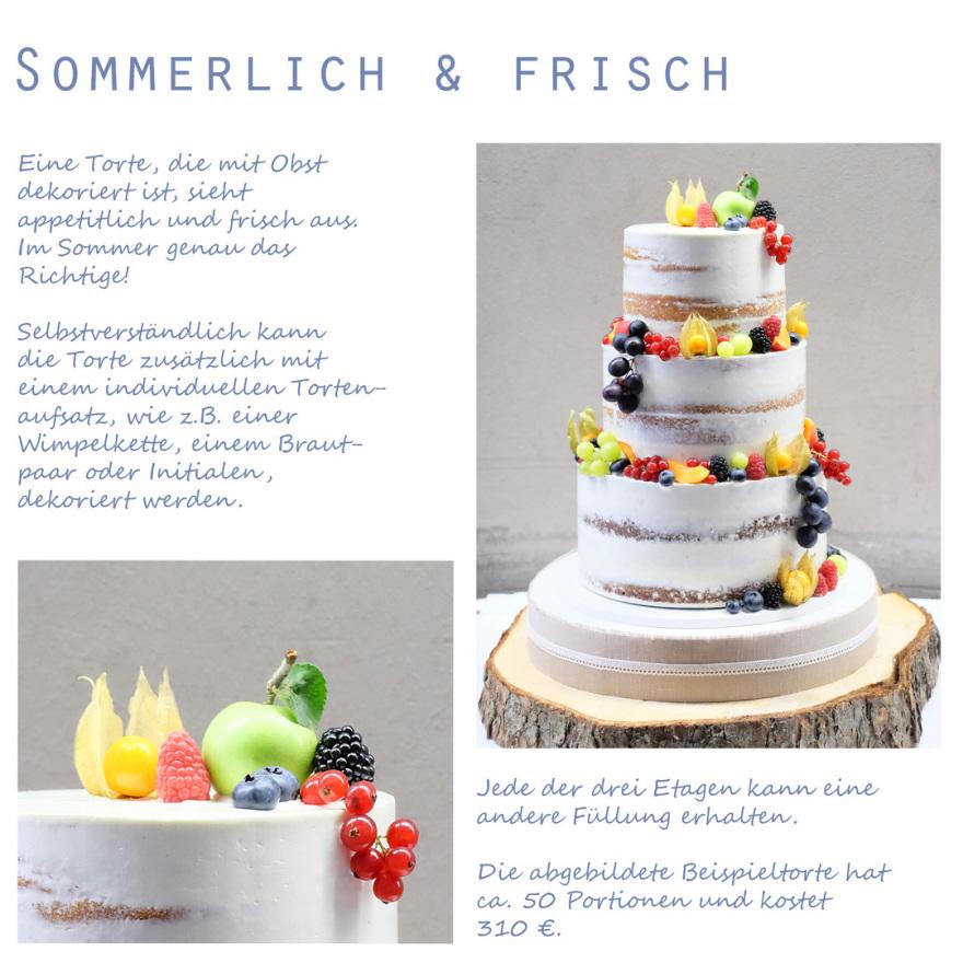 Naked Cake mit Früchten Fruits summer cake